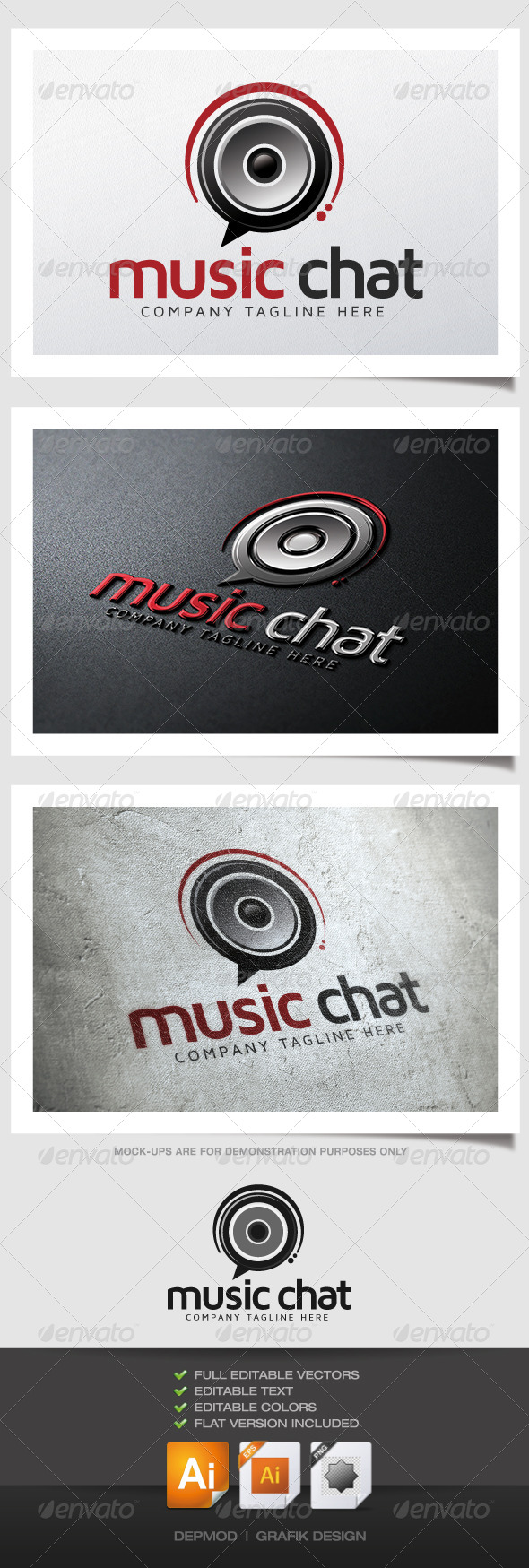 GraphicRiver Music Chat Logo 4871418