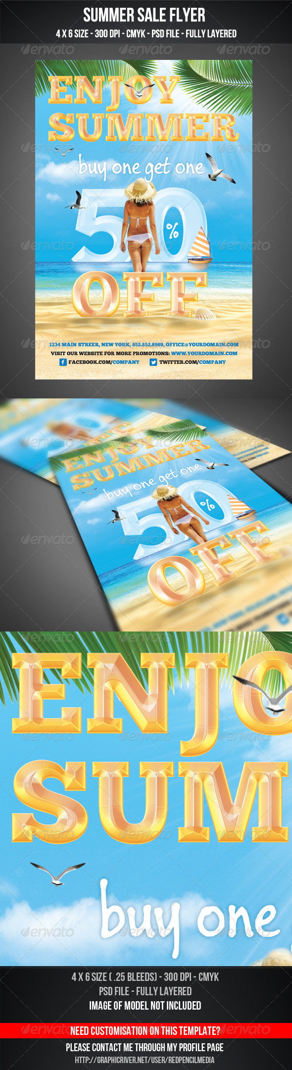 GraphicRiver Summer Sale Flyer 4881654