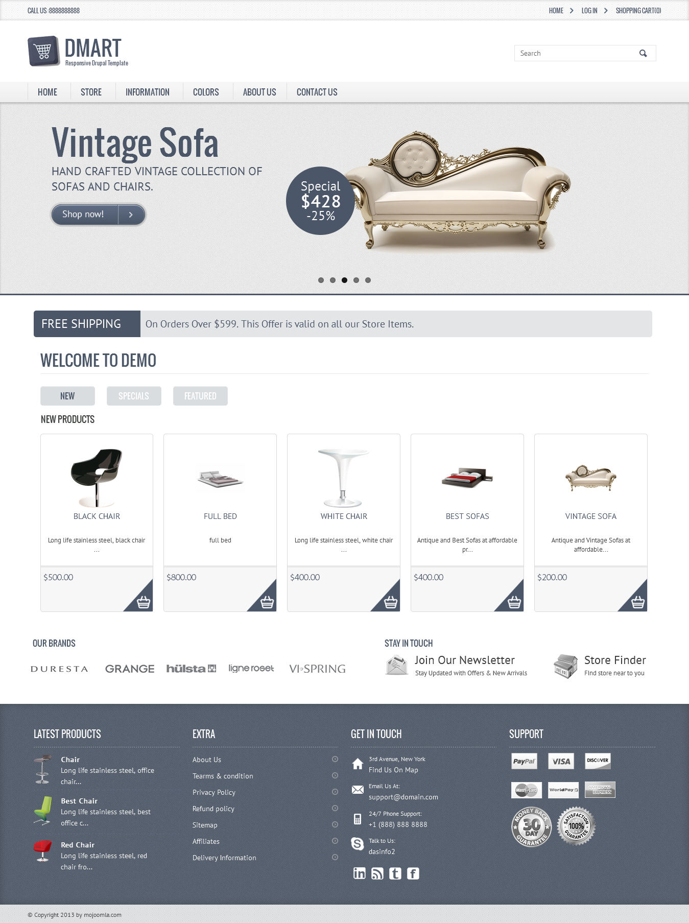 02 homepage Dmart   Clean And Responsive Drupal Commerce Theme