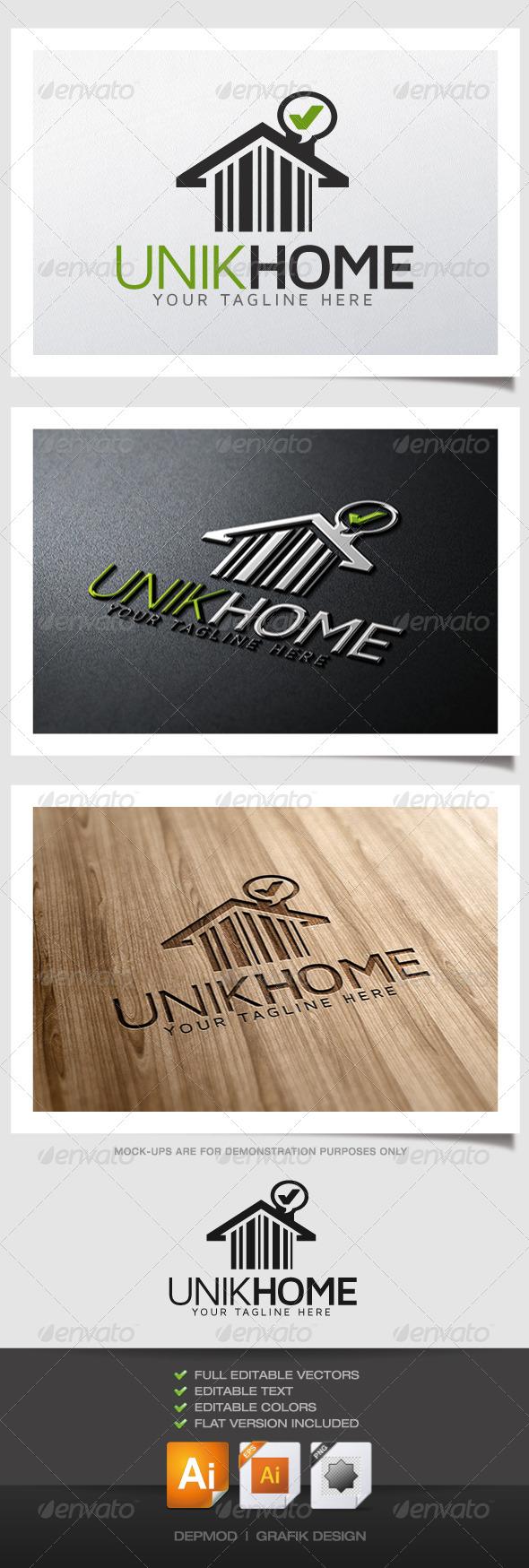 GraphicRiver Unik Home Logo 4881719