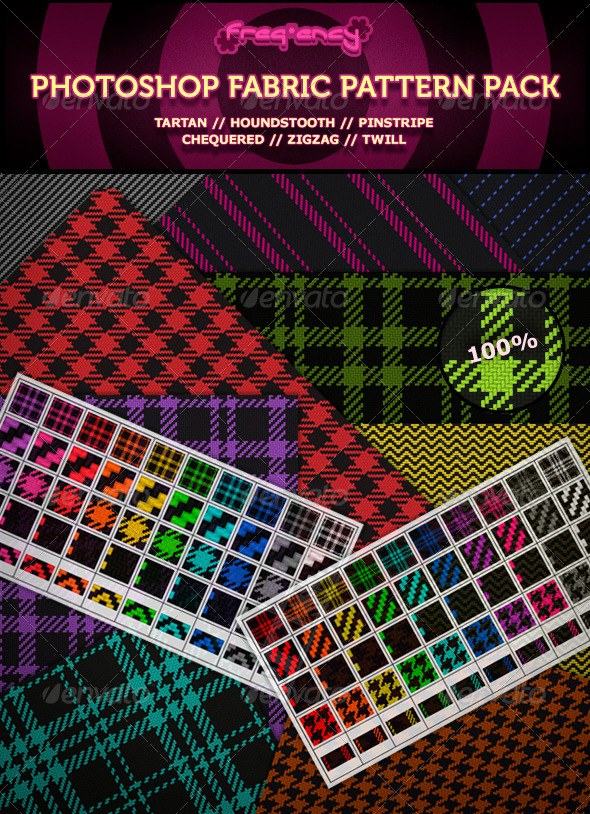 GraphicRiver Photoshop Fabric Pattern Pack 4881761
