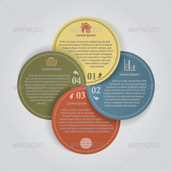 GraphicRiver Business Color Papers Circles 4 Options 4866807