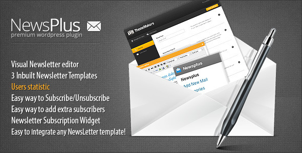 CodeCanyon NewsPlus WP NewsLetter Plugin 4871724
