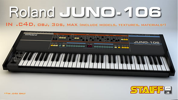 Roland Juno-106 - 3DOcean Item for Sale