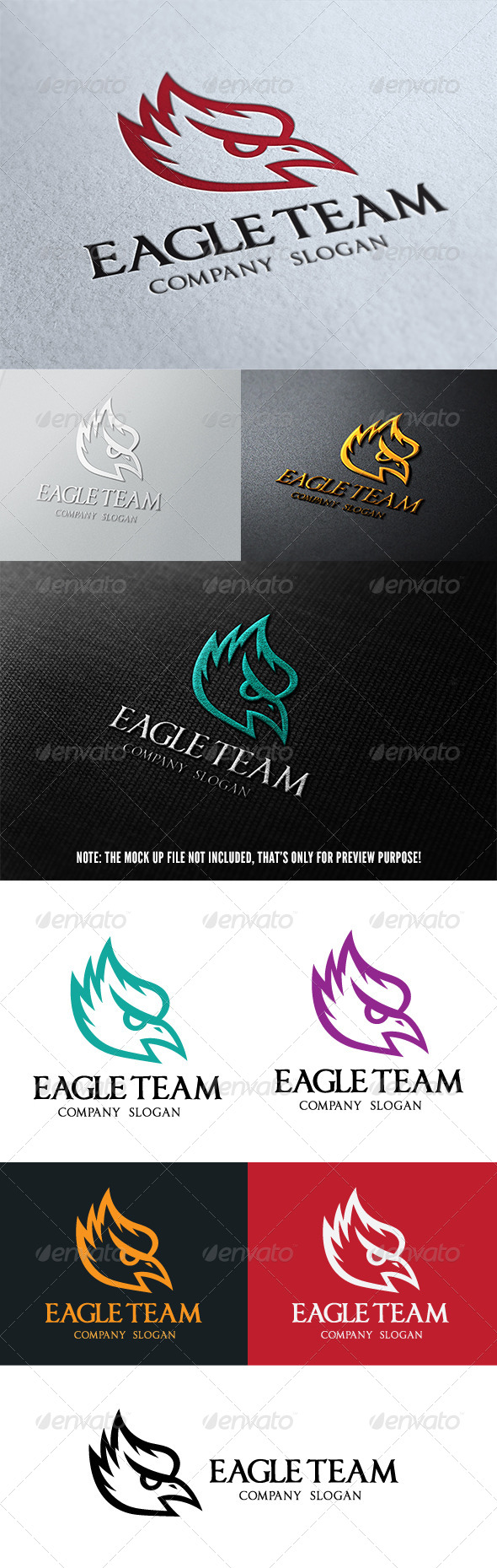 GraphicRiver Eagle Team Logo 4882189