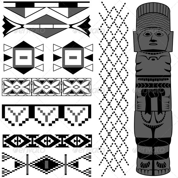 GraphicRiver Ancient American pattern 4882207