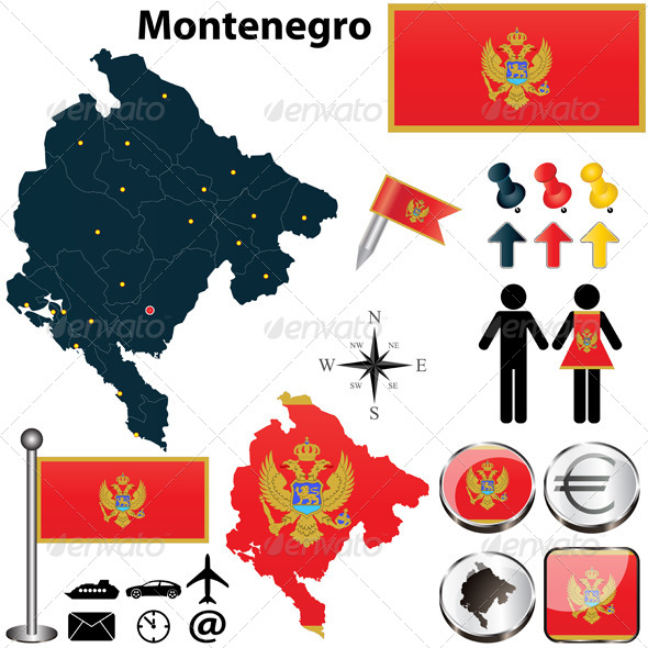 GraphicRiver Map of Montenegro 4882214