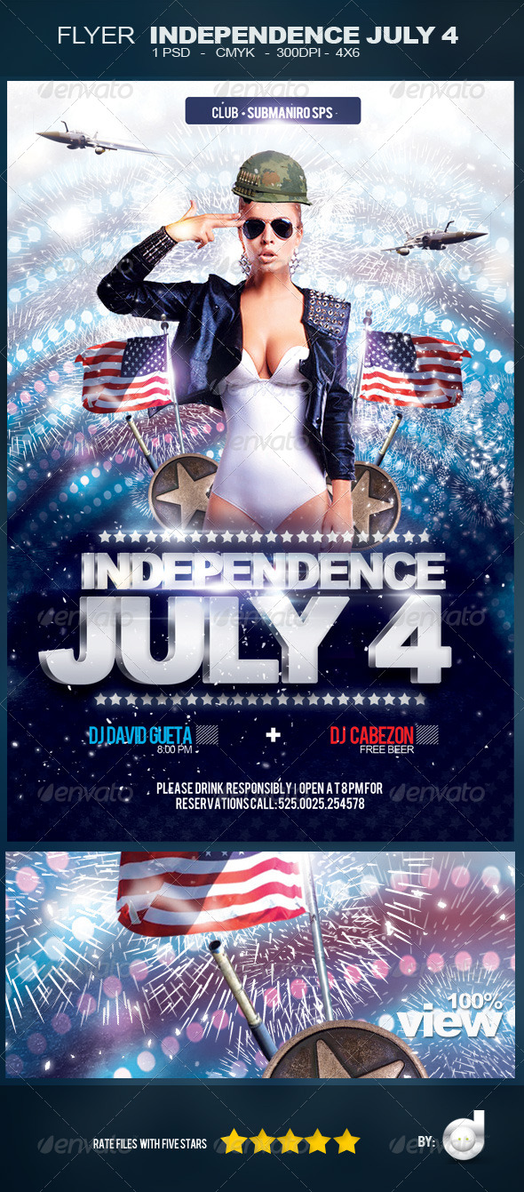 GraphicRiver Flyer Independence Day July 4 PSD 4815510