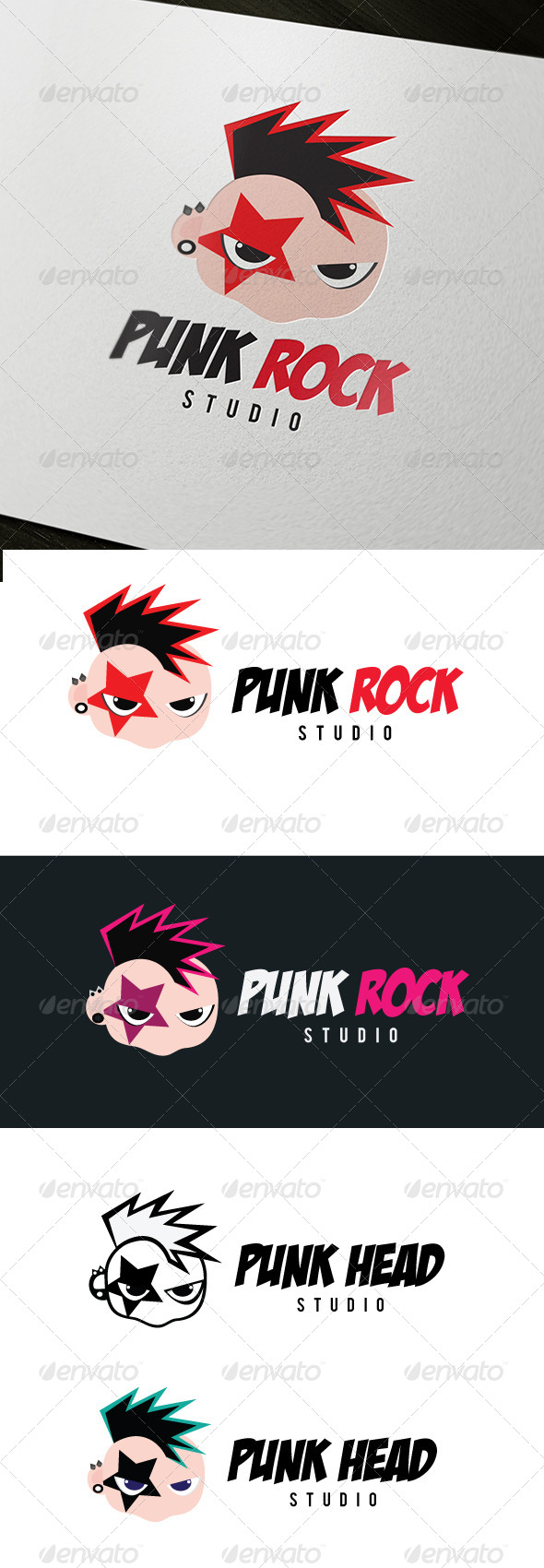 GraphicRiver Punk Rock Logo 4882290