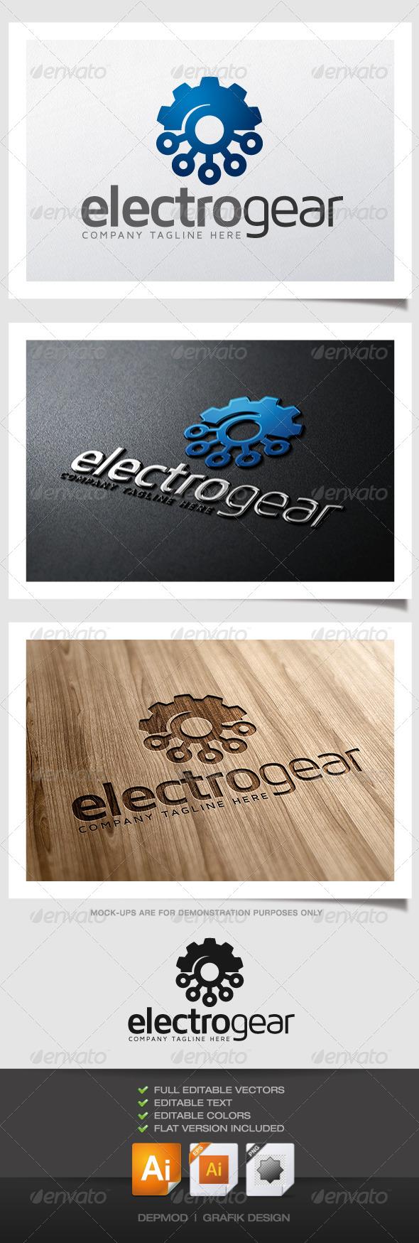 GraphicRiver Electro Gear Logo 4882364