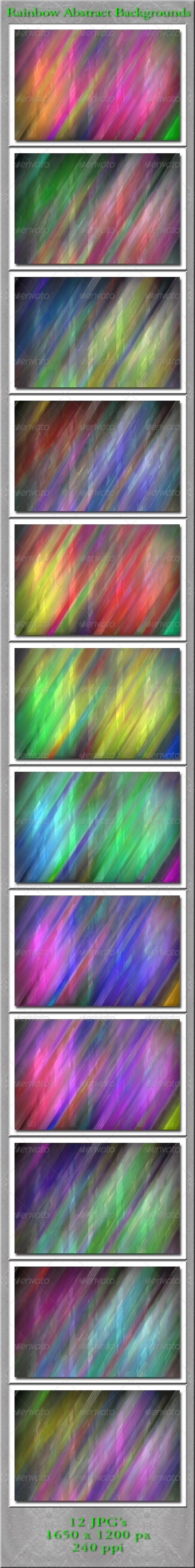 GraphicRiver Rainbow Abstract Backgrounds 4882593