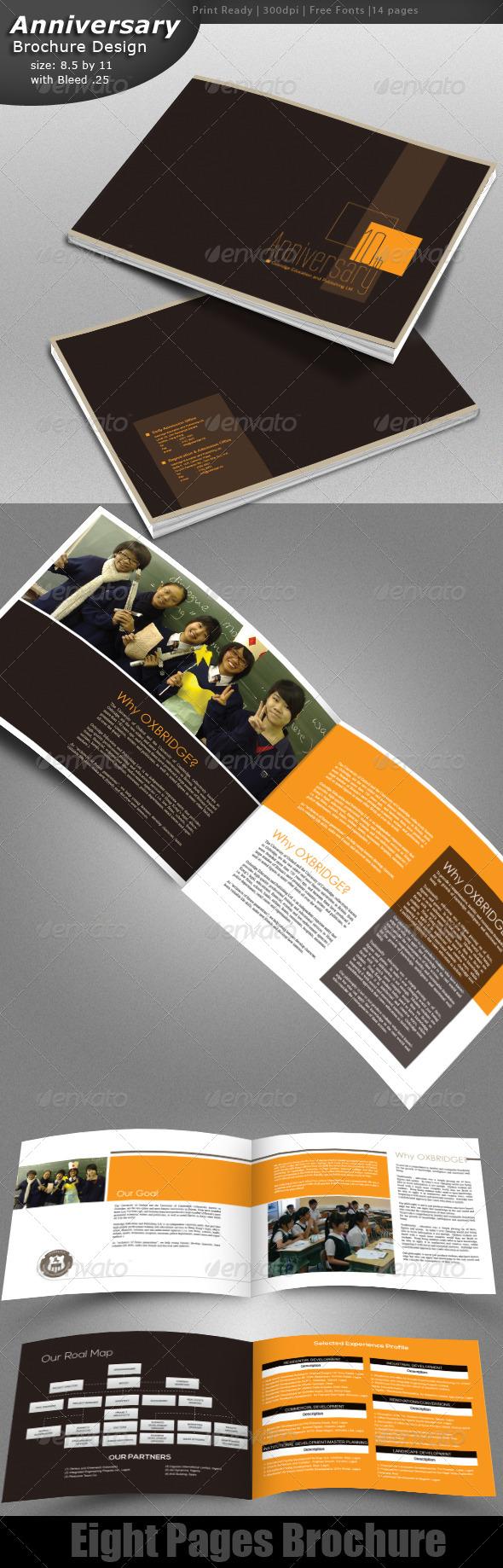 GraphicRiver Anniversary Brochure Design 4882756