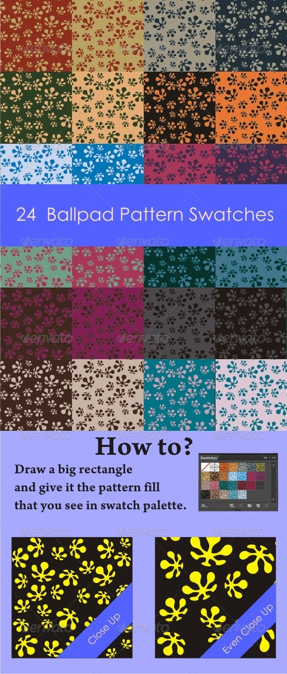 GraphicRiver 24 Ballpad Pattern Swatches 4882873