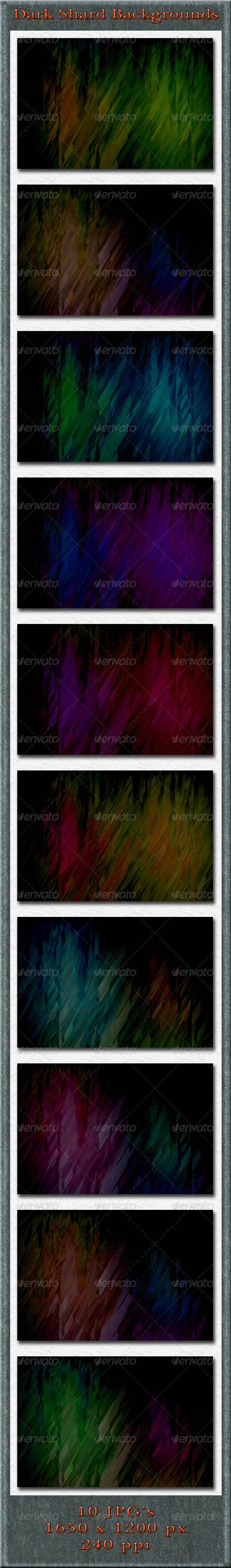 GraphicRiver Dark Shard Backgrounds 4882892