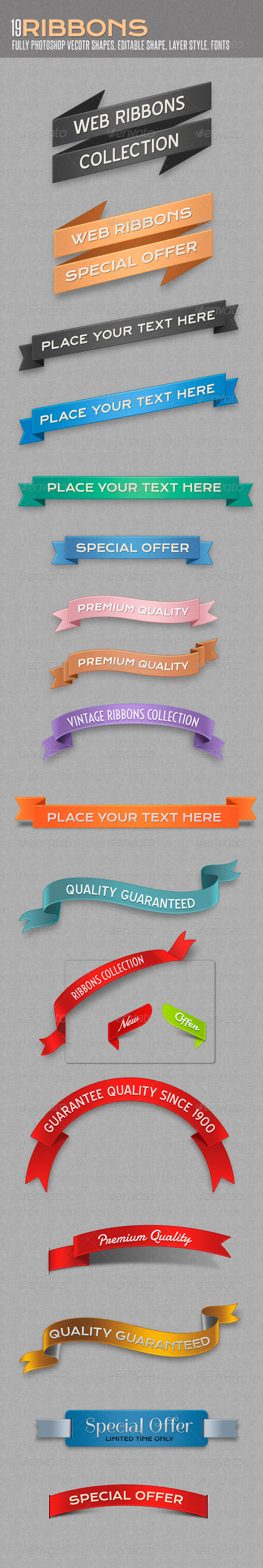 Web Ribbons - Miscellaneous Web Elements