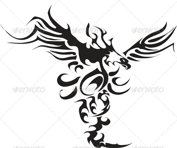 GraphicRiver Eagle Tattoo 4883388