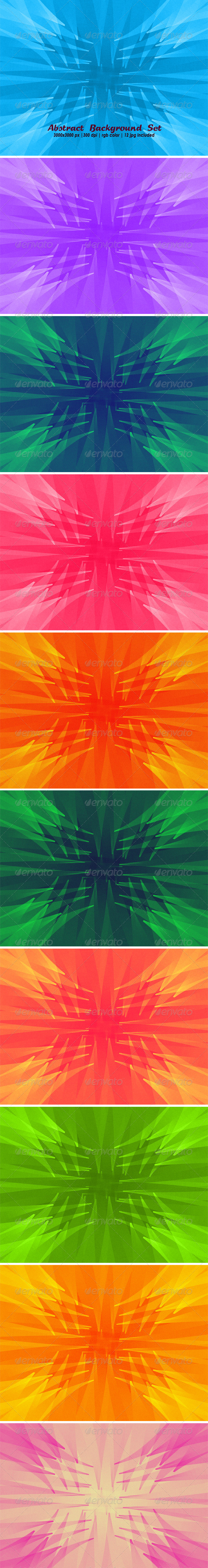 Abstract Background Set - Backgrounds Graphics