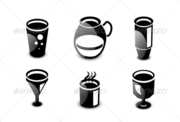 GraphicRiver Glossy Drinks and Beverages Icon Set 4883691