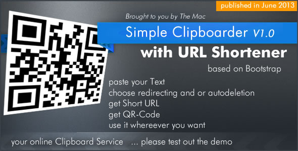 CodeCanyon Simple Clipboarder with URL Shortener Service 4883700