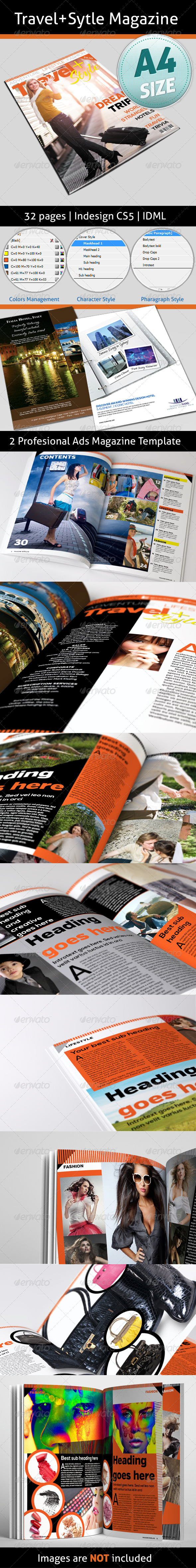 GraphicRiver Travel&Style Magazine 32 Pages 4883705