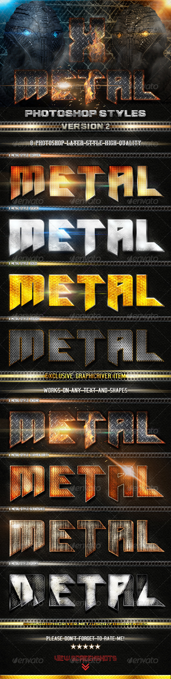 GraphicRiver X Metal Styles V.2 4883723