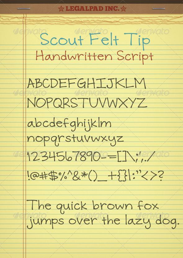 GraphicRiver Scout Felt Tip 4883730