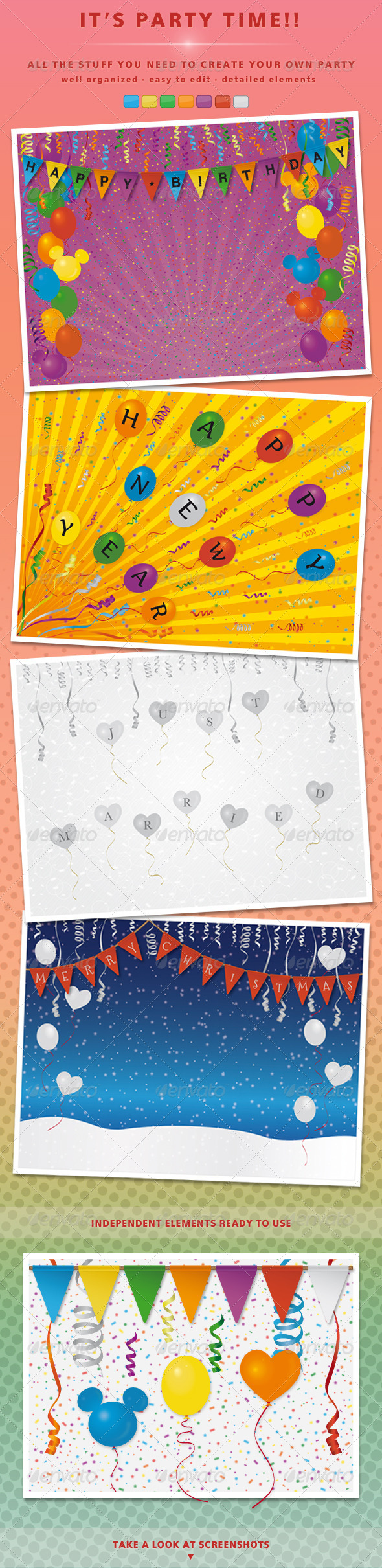 GraphicRiver Kit Party Elements 4883735