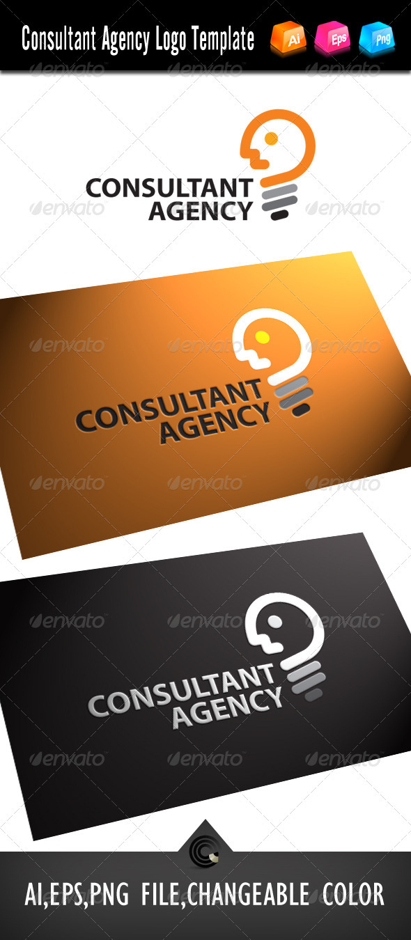 Graphic River Consultant Agency Logo Template Logo Templates -  Objects 504369