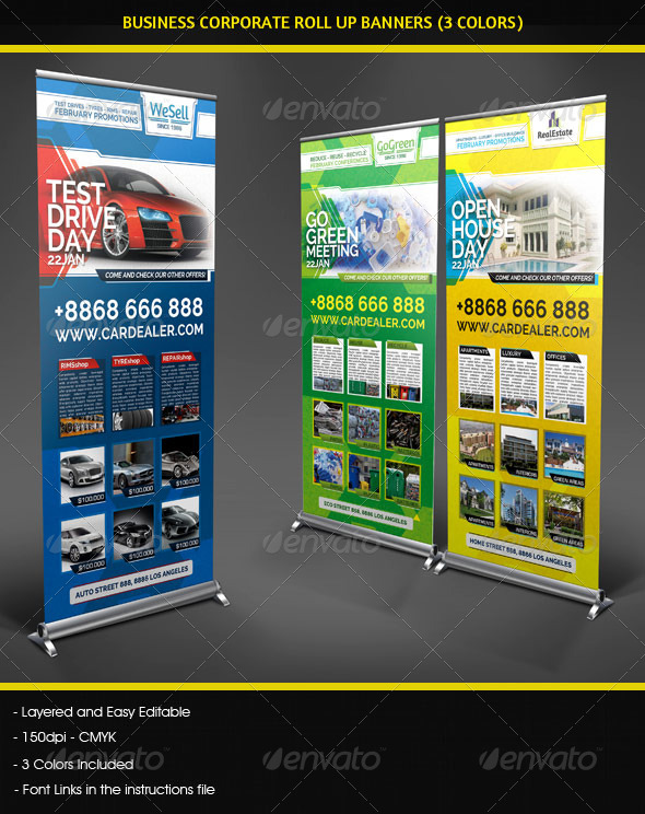 GraphicRiver Business Corporate Roll Up Banners Signage 4819075