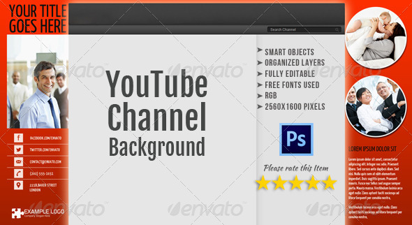 Corporate YouTube Channel Background Template 3