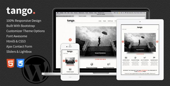 Tango – Bootstrap Responsive Html5 WordPress Theme (Portfolio) images