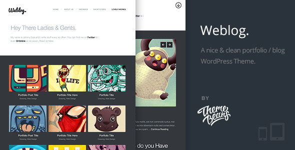 ThemeForest Weblog A Creative s Portfolio & Blog Theme 4884067