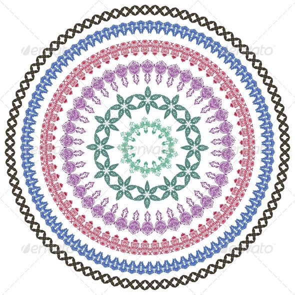 GraphicRiver Round Decorative Frames with Ornaments 4884198