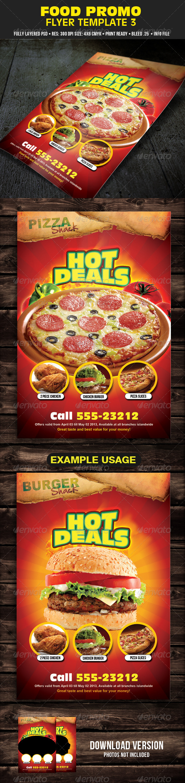 Food Promo Flyer Template 3