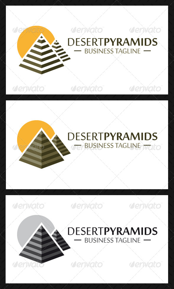GraphicRiver Pyramids Logo Template 4884708