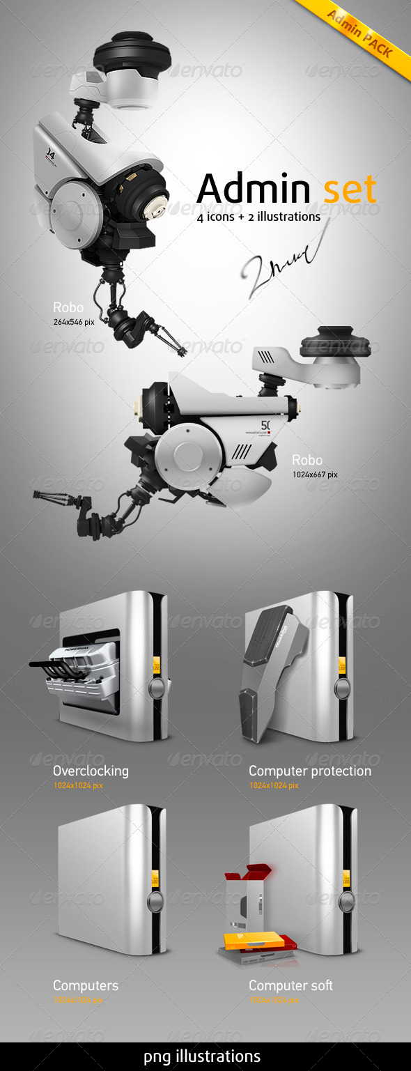 GraphicRiver Admin Pack 504450