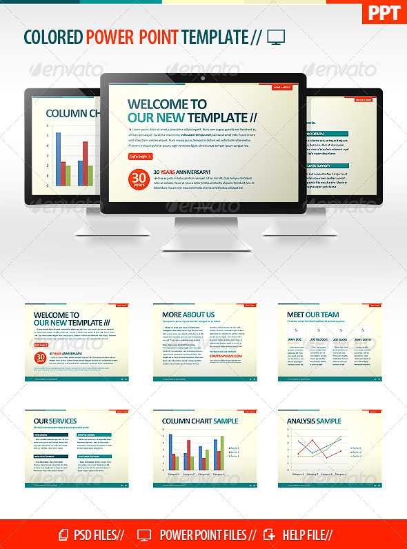 Colorful Powerpoint Template - Miscellaneous Powerpoint Templates