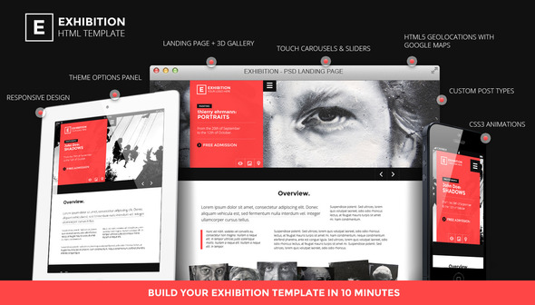ThemeForest Exhibition WP Photography Art Landing page 4832492