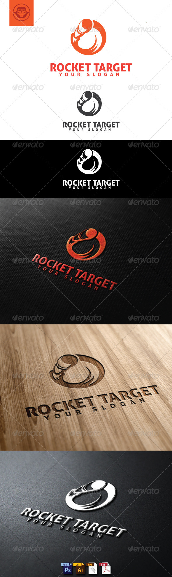 GraphicRiver Rocket Target Logo Template 4884804