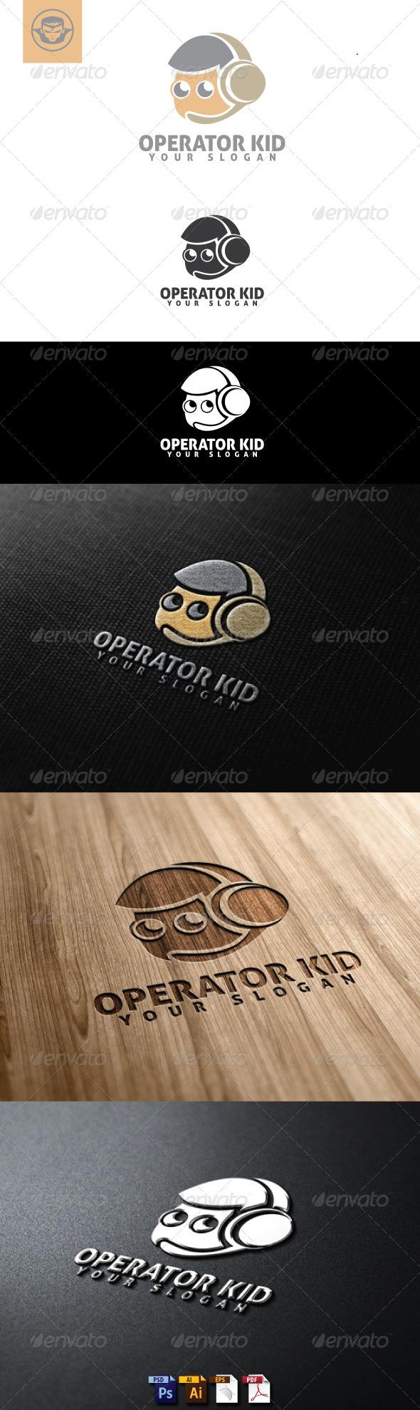 GraphicRiver Operator Kid Logo Template 4884850
