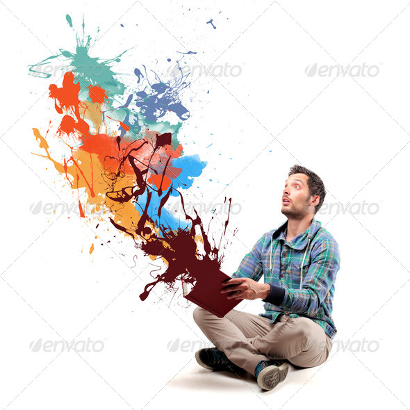 explosion of colors - Stock Photo - Images