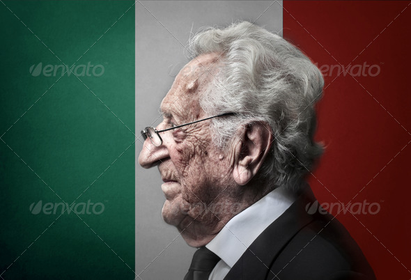 senior italian - Stock Photo - Images