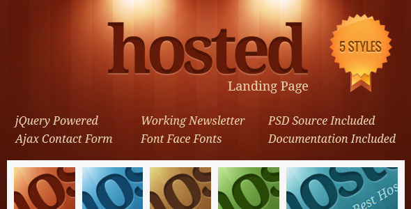 ThemeForest Hosted Landing Page 504873