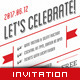 Retro Anniversary Invitation - GraphicRiver Item for Sale