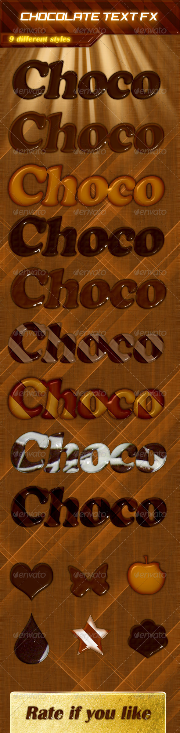 GraphicRiver 9 Delicious Chocolate Text Effects 4886233