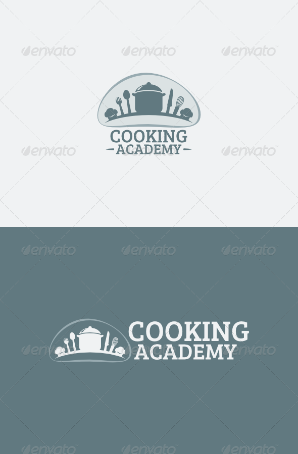 GraphicRiver Cooking Academy logo 4886236