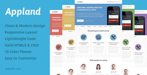 ThemeForest Appland Premium Responsive Landing Page 4851031