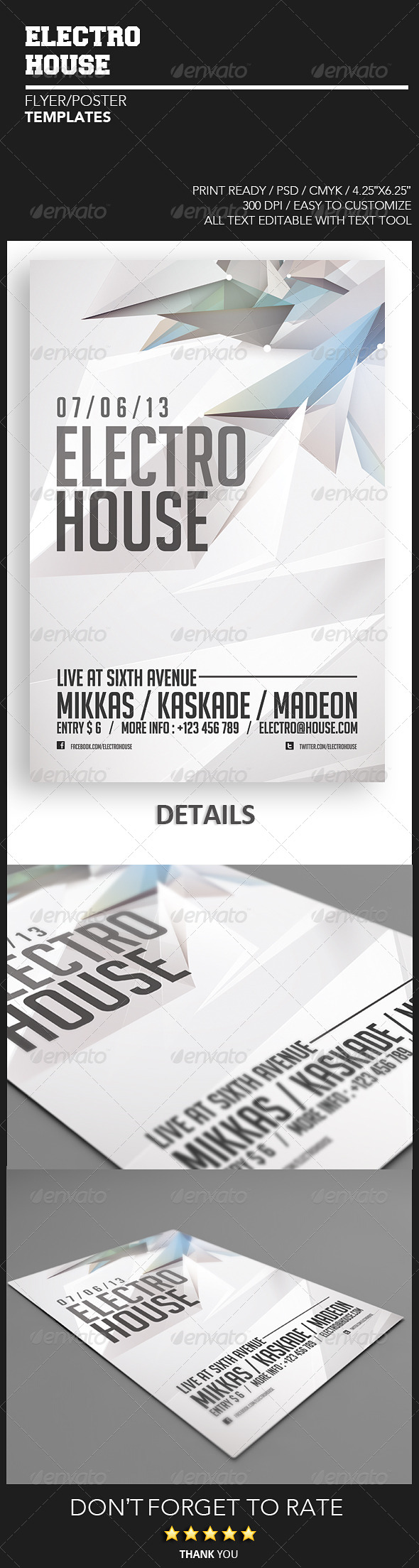 GraphicRiver Electro House Flyer 4887186