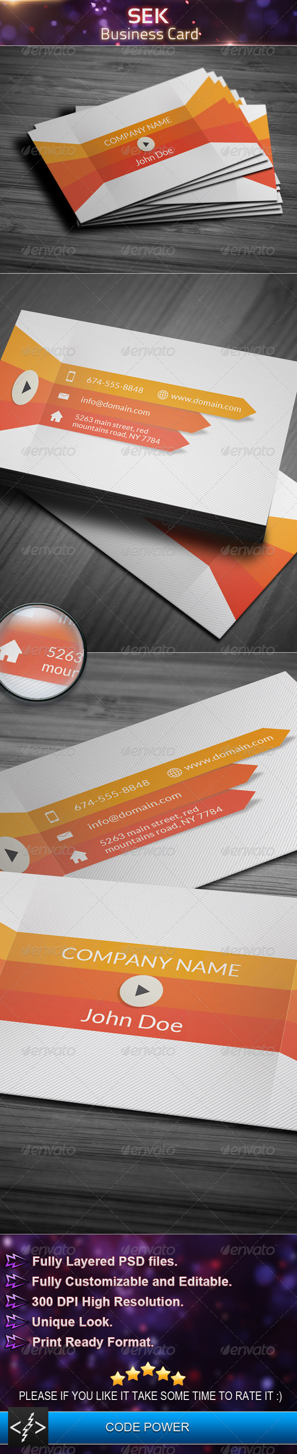 GraphicRiver Sek Business Card 4812707