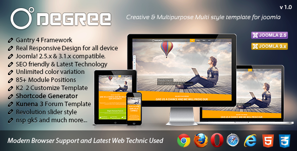 ThemeForest Degree Creative and Responsive Joomla Template 4887416